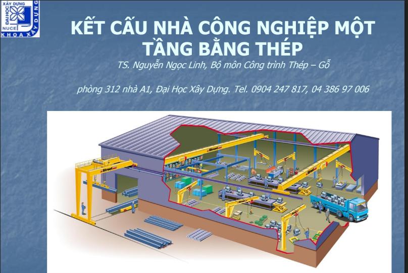 Kết cấu công nghiệp một tầng bằng thép