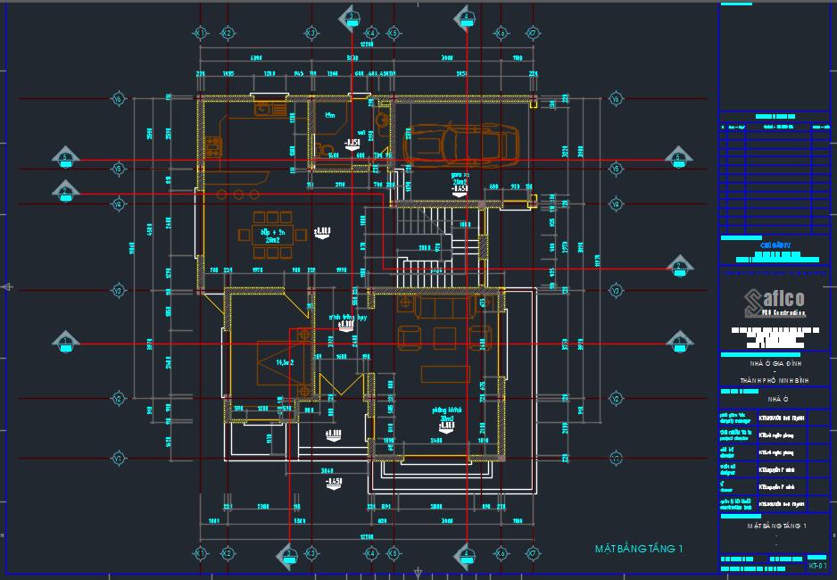 HỒ SƠ THIẾT KẾ BIỆT THỰ 12,3x13,3m Gồm 3 Tầng