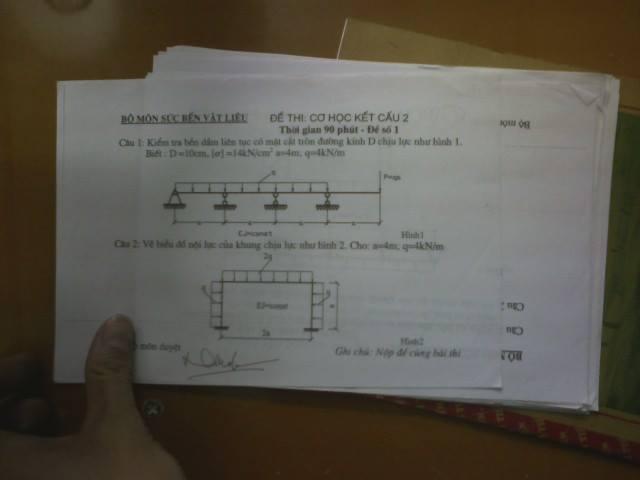Đề thi môn học Cơ học kết cấu 2 1798755 466984140096361 1091636628 n