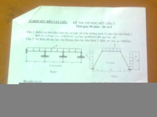 Đề thi môn học Cơ học kết cấu 2 1969322 466984010096374 436852048 n