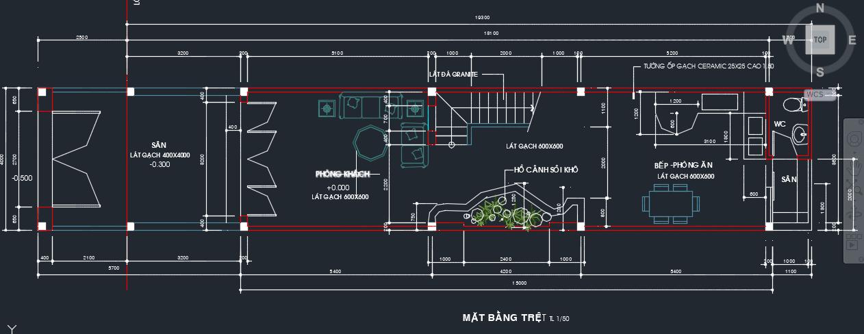 Mẫu Nhà Phố 4 Tầng (60m2)