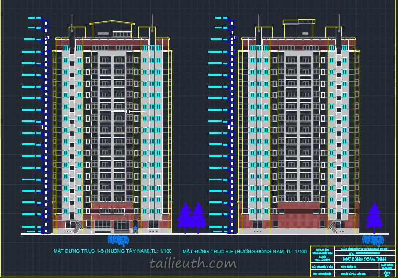 Bản vẽ kiến trúc đồ án tốt nghiệp, 1 chung cư cao 16 tầng 2018 04 07 17h32 29