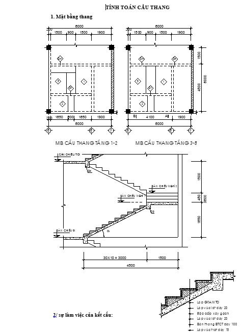 tính toán cầu thang