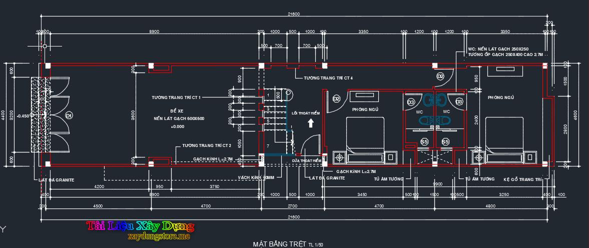 Hồ sơ mẫu nhà phố 4.6x21m 46x21 1