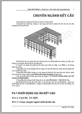 Sách tự học Revit Architecture 7 giao trinh revit structure tieng viet