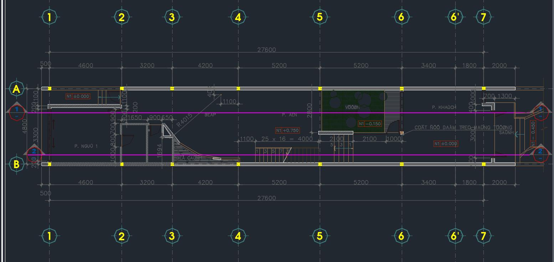 mẫu nhà phố 2 tầng 129m2