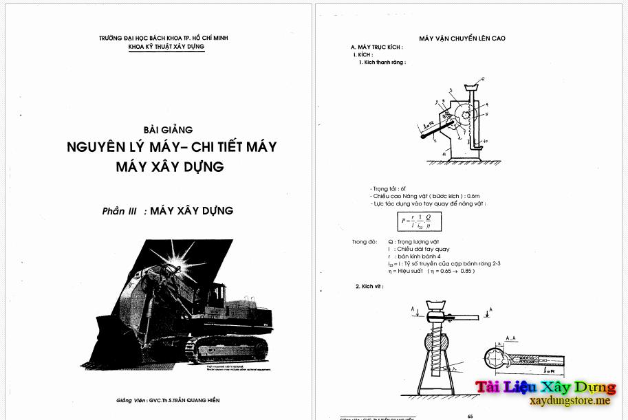 bài giảng máy xây dựng - trần quang hiền