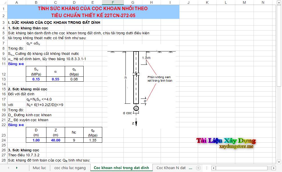 Kiểm tra cọc khoan nhồi - Tiêu chuẩn 22TCN 272-05 cọc khoan