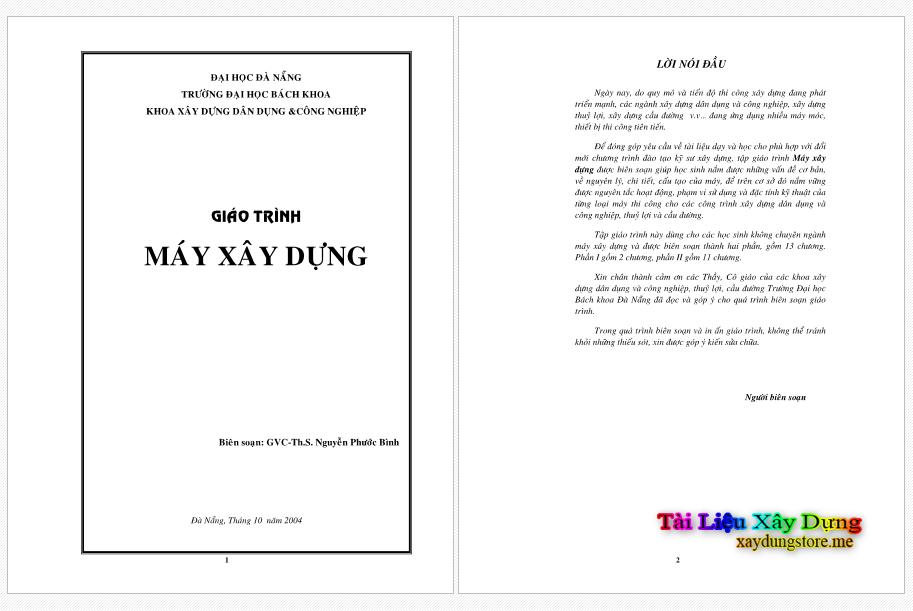 Giáo trình máy xây dựng - Nguyễn Phước Bình