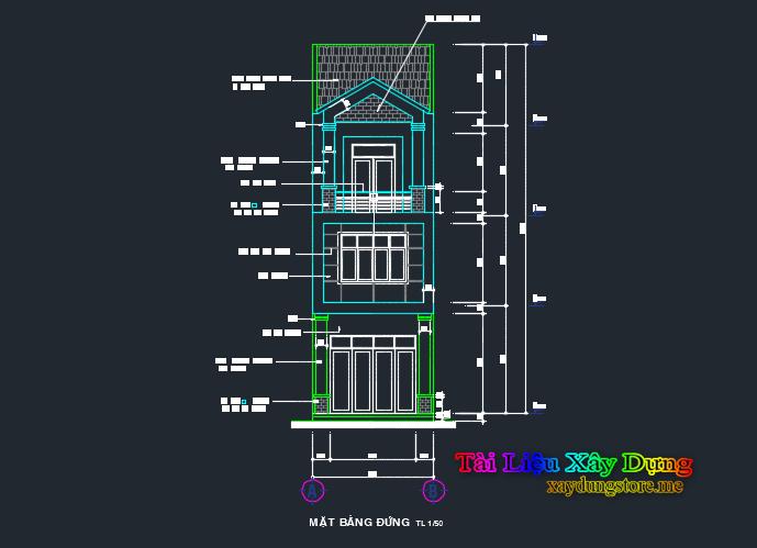 Hồ sơ nhà phố 4.5x18m 3 tầng nha 45x18 2