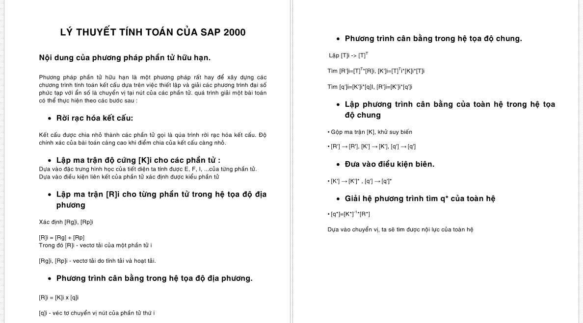 Lý thuyết tính toán của sap2000 screenshot 03