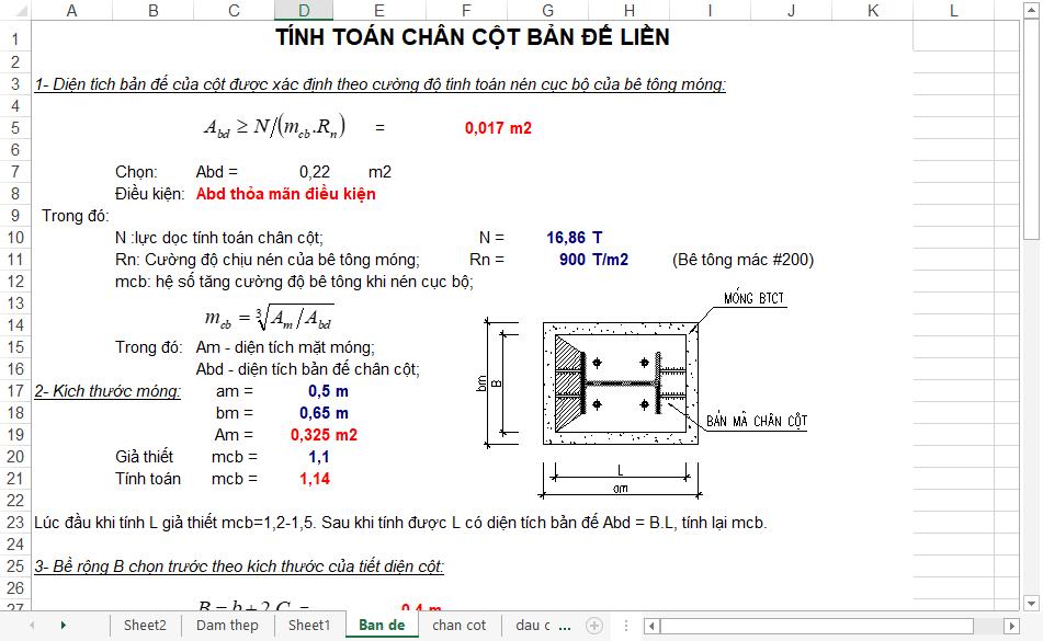 Bảng tính toán thiết kế tổ hợp hàn screenshot 14