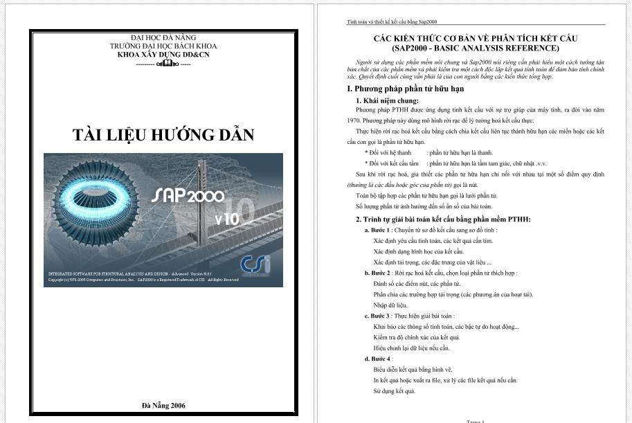 Tài liệu hướng dẫn sap2000 v10 tài liệu hướng dẫn sap2000
