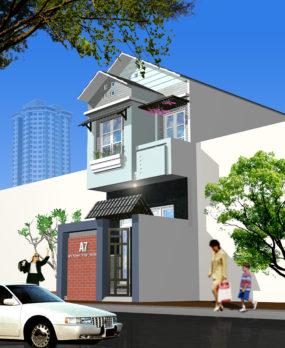 Mẫu Nhà Phố 2 tầng (80m2) v1 e1522989799377