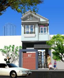Mẫu Nhà Phố 2 tầng (80m2) v2 e1523007801119