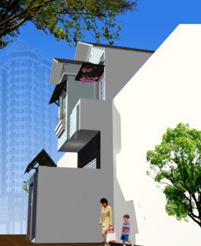 Mẫu Nhà Phố 2 tầng (80m2) v7 e1522989781450