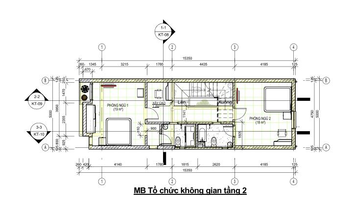 Phối cảnh nhà phố 3 tầng 4x14m