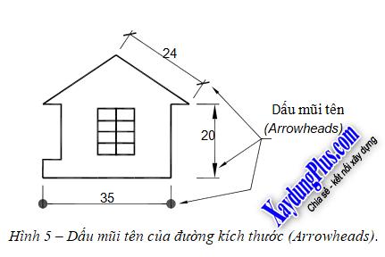 Ghi kích thước cho bản vẽ trong AutoCad ghi kích thước cho bản vẽ trong CAD 5