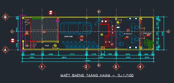 mẫu hồ sơ nhà phố 5 x 20m