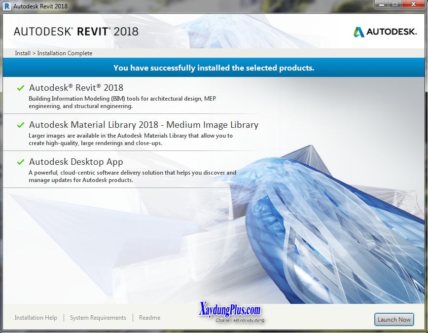Download Revit Architecture 2018 và hướng dẫn cài đặt chi tiết Revit 2018 mien phi bản quyền 3 năm5