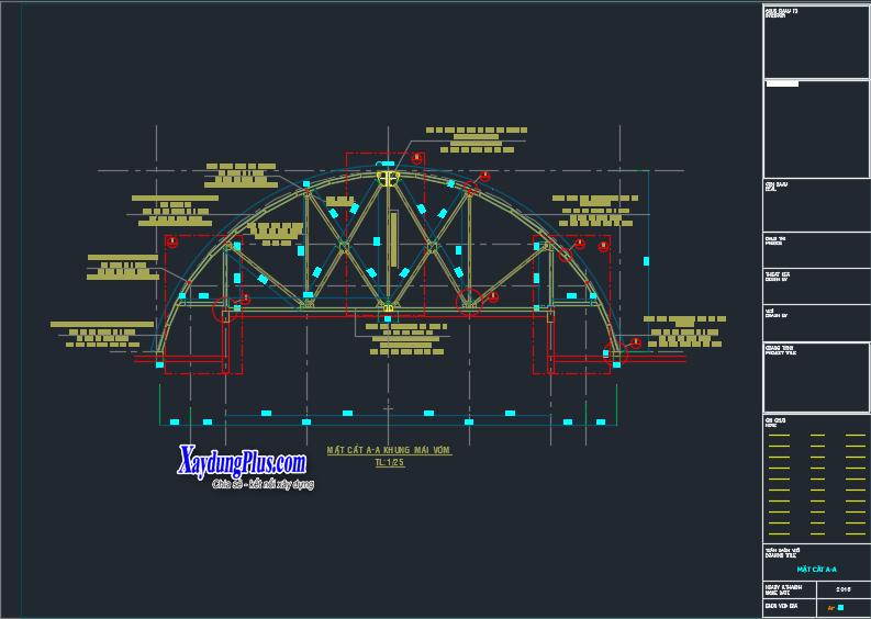 Biện pháp thi công kết cấu mái vòm