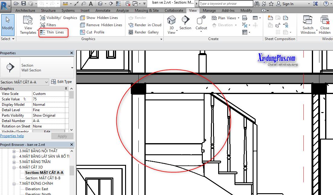 Cách thể hiện độ đậm nét của bản vẽ trong Revit cach the hien do dam net3