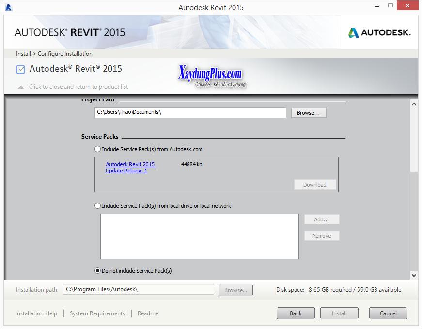 Download Revit Architecture 2015 và cài đặt chi tiết download revit 2015 full crack4