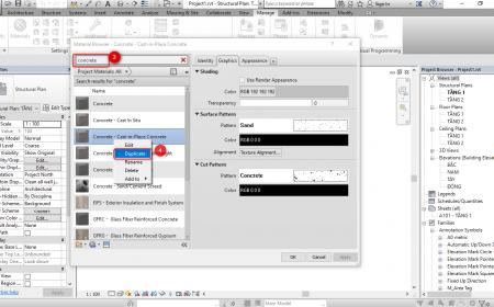 Quản lý vật liệu trong Revit quản lý vật liệu trong revit1