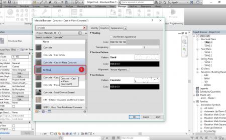 Quản lý vật liệu trong Revit quản lý vật liệu trong revit2