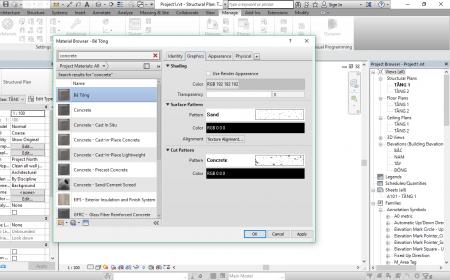 Quản lý vật liệu trong Revit quản lý vật liệu trong revit5