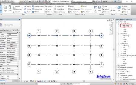 Vẽ đài móng đơn giản trong Revit tạo lập đài móng trong revit3