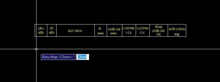 AutoLisp thông kê thép