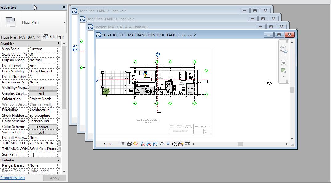 Bài 5: Mở nhiều khung nhìn trong Revit Architecture Mở nhiều khung nhìn trong Revit Architecture3