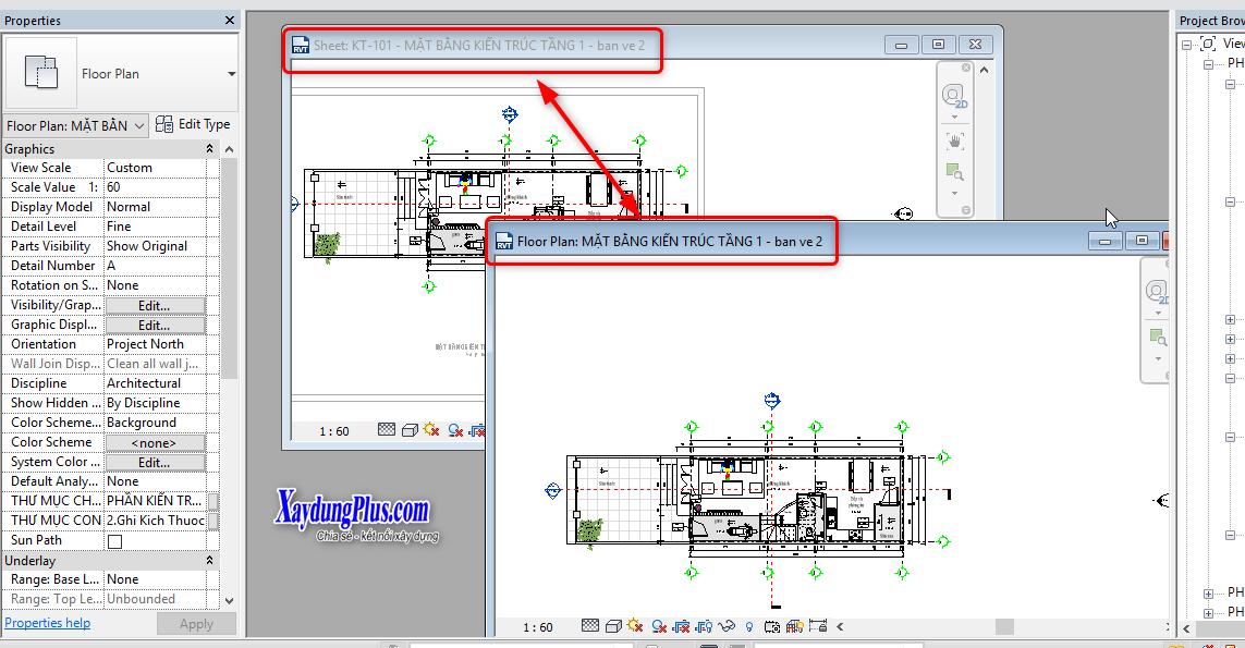 Bài 5: Mở nhiều khung nhìn trong Revit Architecture Mở nhiều khung nhìn trong Revit Architecture4