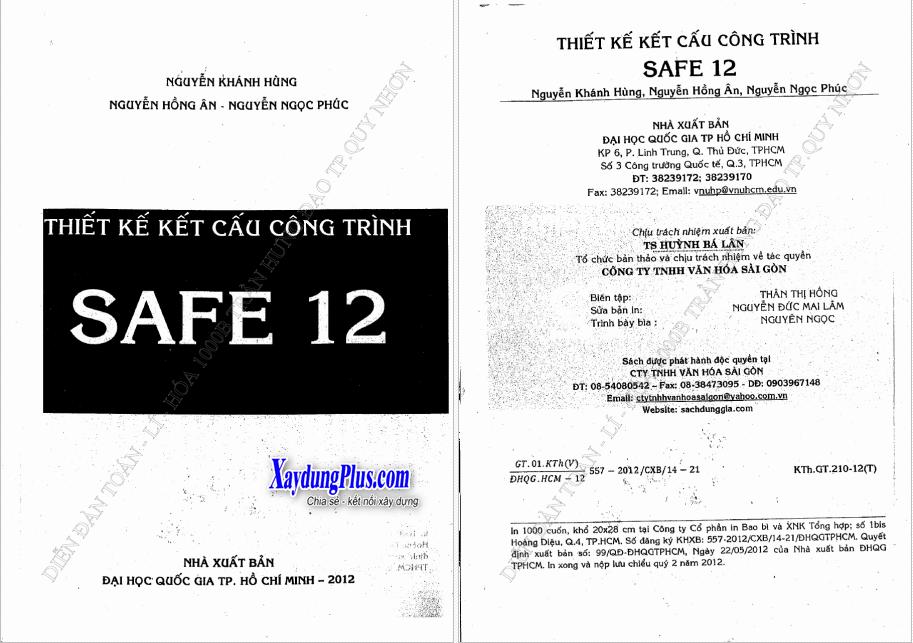 Thiết kế kết cấu công trình bằng Safe 12