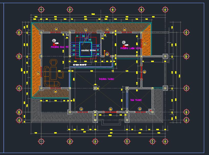 Hồ sơ mẫu biệt thự hiện đại Hồ sơ mẫu biệt thự hiện đại 5 tầng 15x18m 4