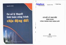 Cơ sở lý thuyết tính toán công trình chịu động đất (Nguyễn Lê Ninh)