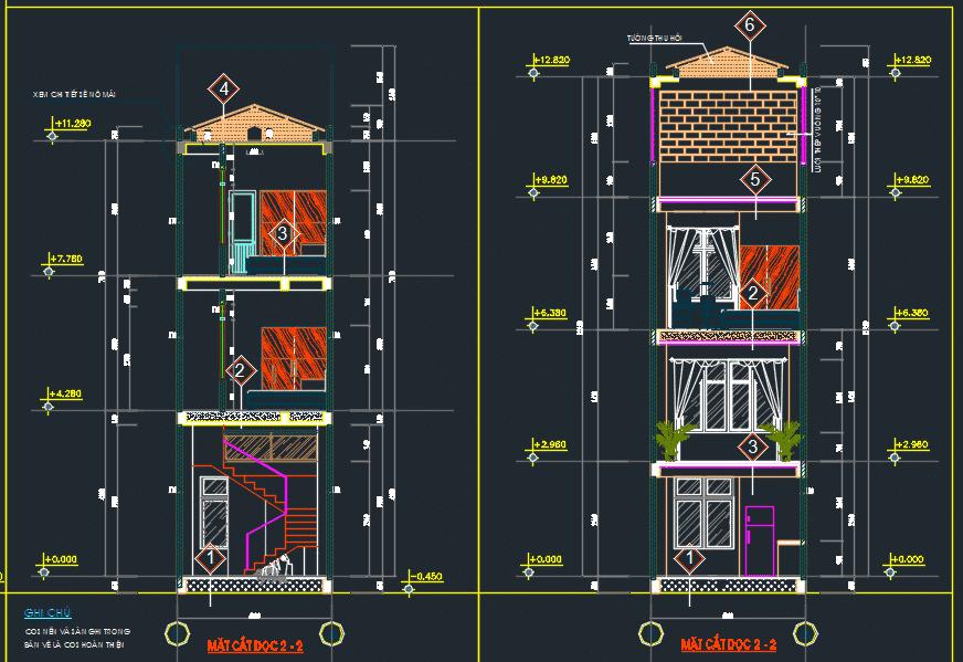 Mẫu nhà phố 3 tầng 4x20m