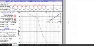 Tổng hợp bảng tính kết cấu đường