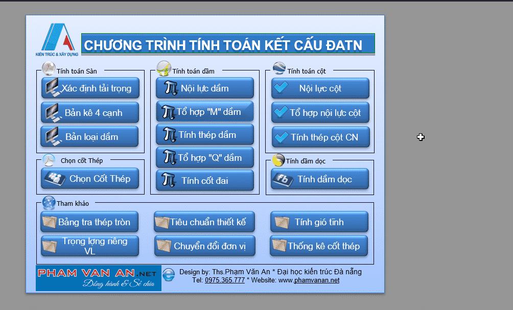Chương trình tính toán kết cấu làm DATN v4