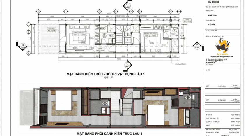 Hồ sơ kiến trúc nhà 4 tầng full