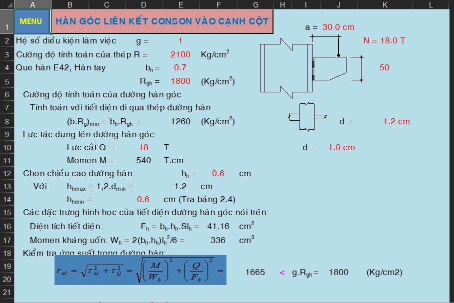 Bảng excel tính toán đường hàn Bảng excel tính toán đường hàn1