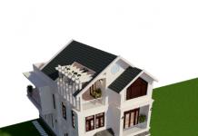 Hồ sơ mẫu biệt thự đẹp 2,5 tầng