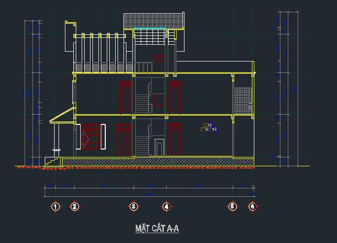 Hồ sơ mẫu biệt thự đẹp 2,5 tầng Hồ sơ mẫu biệt thự đẹp 25 tầng1