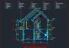 Kiến trúc nhà dân 2 tầng đơn giản