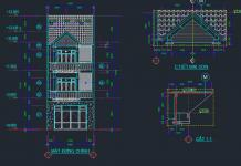 Thiết kế kết cấu nhà phố 3 tầng