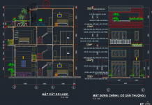 Hồ sơ mẫu bản vẽ nhà phố 4 tầng 6.3x13.3m