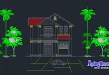 Mẫu biệt thự nhà 2 tầng nhà A Lợi