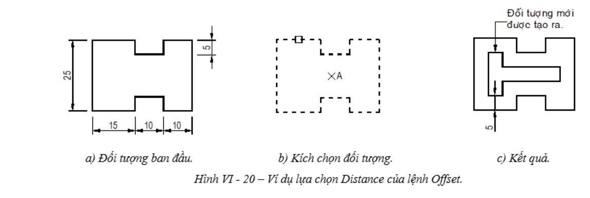Tạo đối tượng song song trong AutoCad - Lệnh OFFSET Tạo đối tượng song song trong AutoCad Lệnh OFFSET1