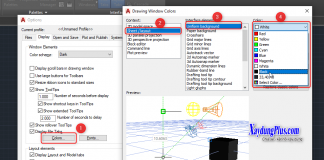 Thiết lập thẻ DISPLAY trong AutoCad